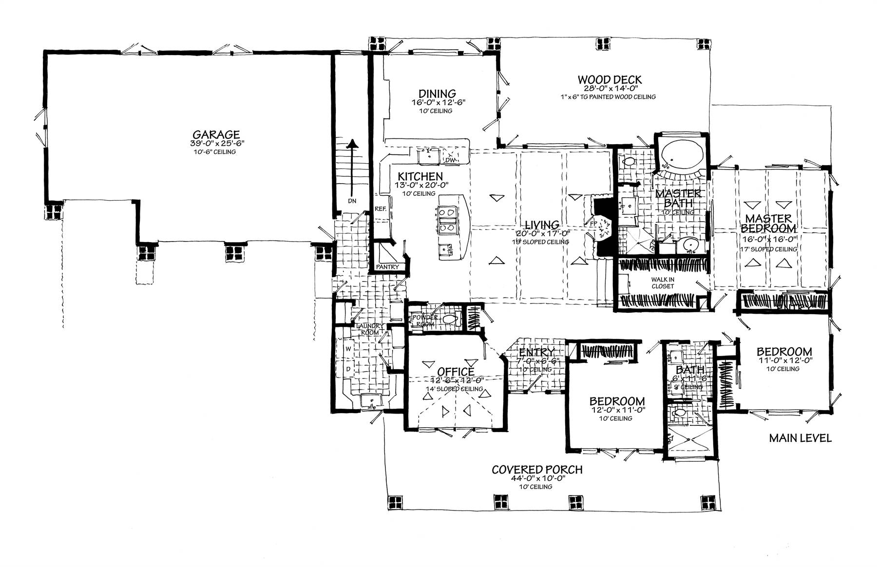 1st Floor Plan image of Featured House Plan: BHG - 7300