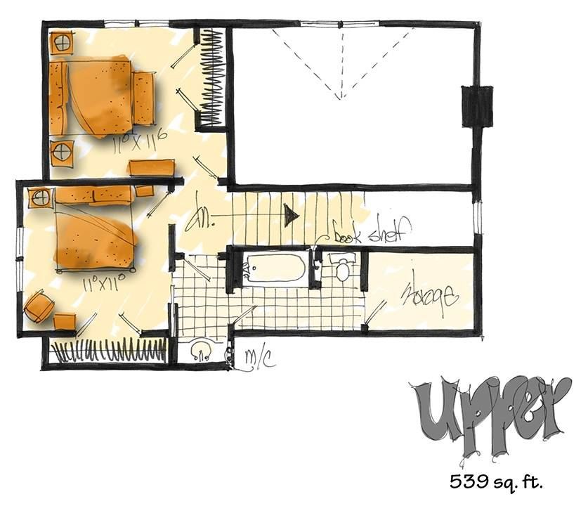 2nd floor plan image of Featured House Plan: BHG - 3131