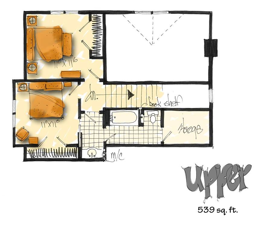 2nd floor plan image of Featured House Plan: BHG - 3130