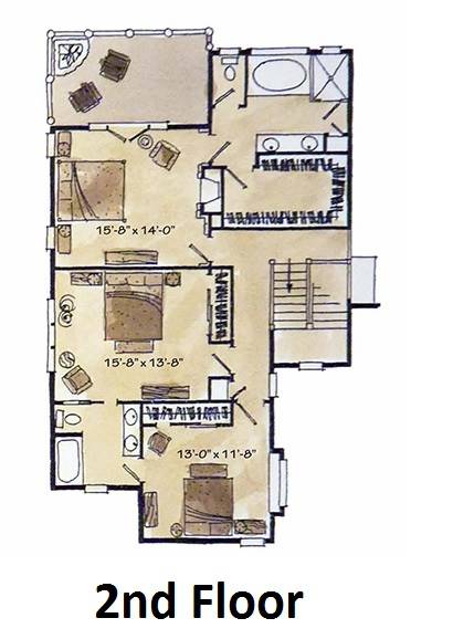 2nd floor plan image of Featured House Plan: BHG - 1981