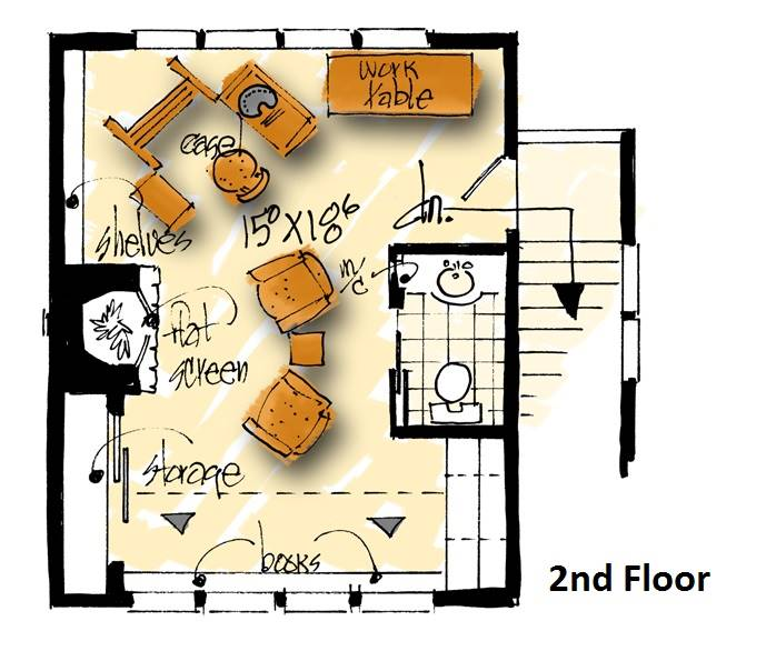 2nd floor plan image of Featured House Plan: BHG - 1984