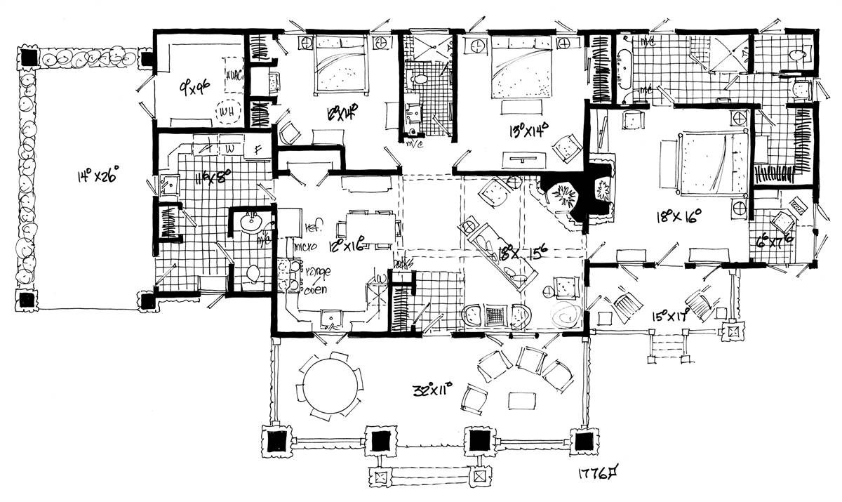 Floor Plan image of Featured House Plan: BHG - 2192