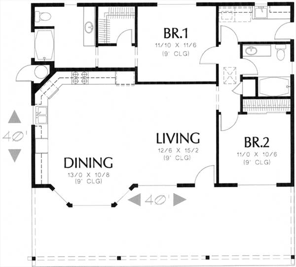 floor plan image of Featured House Plan: BHG - 7790