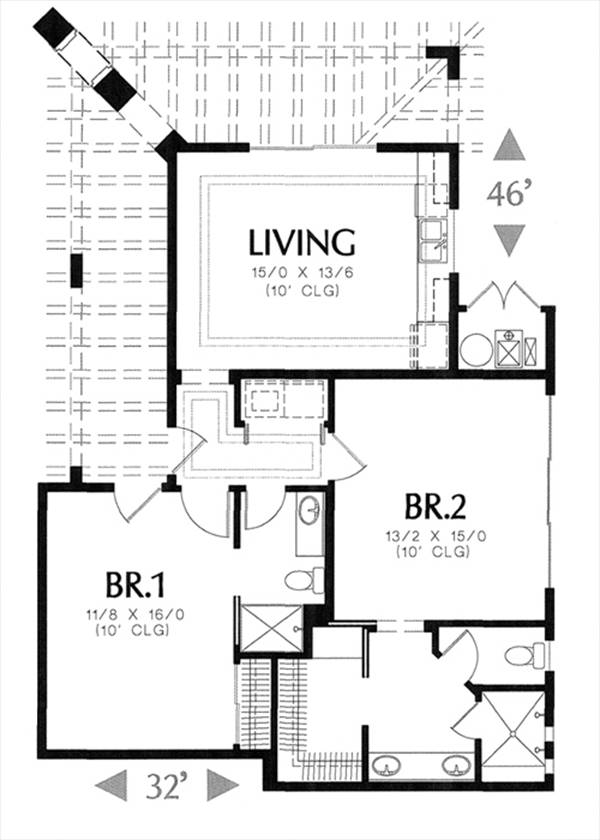 floor plan image of Featured House Plan: BHG - 7791