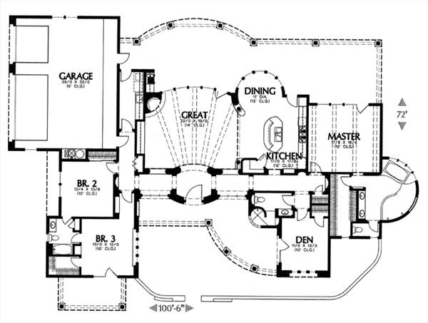 floor plan image of Featured House Plan: BHG - 6648