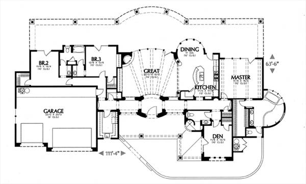 floor plan image of Featured House Plan: BHG - 6651