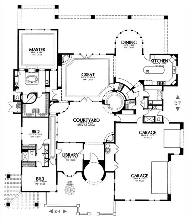 floor plan image of Featured House Plan: BHG - 6507