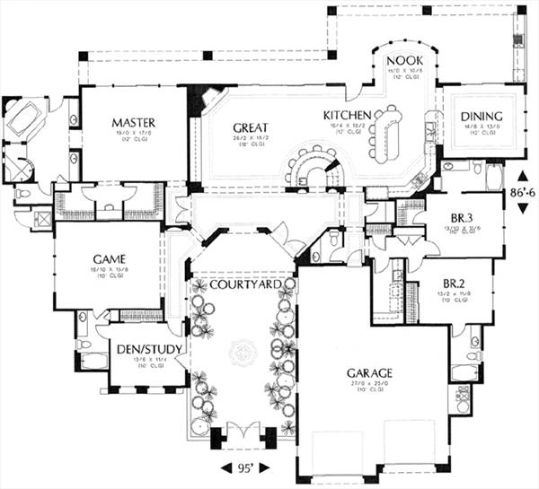floor plan image of Featured House Plan: BHG - 6582