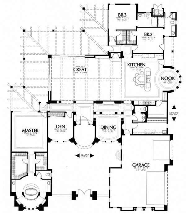 floor plan image of Featured House Plan: BHG - 1253