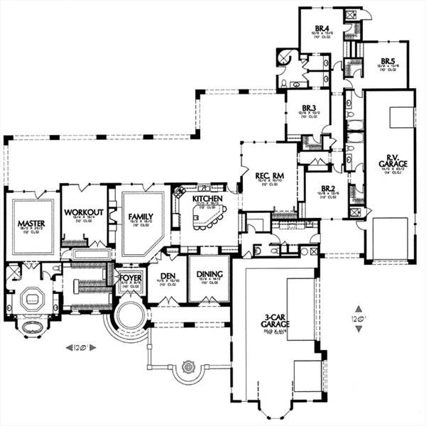 floor plan image of Featured House Plan: BHG - 6575