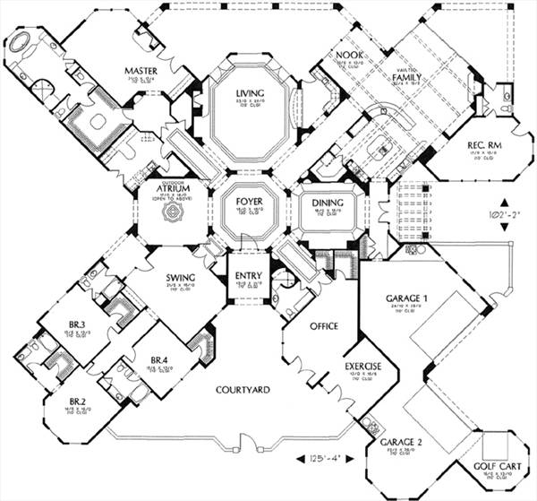 floor plan image of Featured House Plan: BHG - 6588