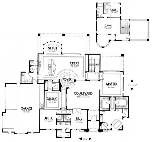 floor plan image of Featured House Plan: BHG - 1256