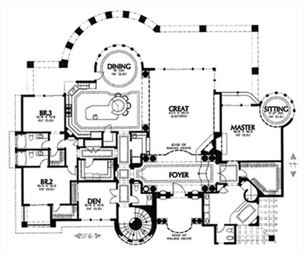 floor plan image of Featured House Plan: BHG - 6901