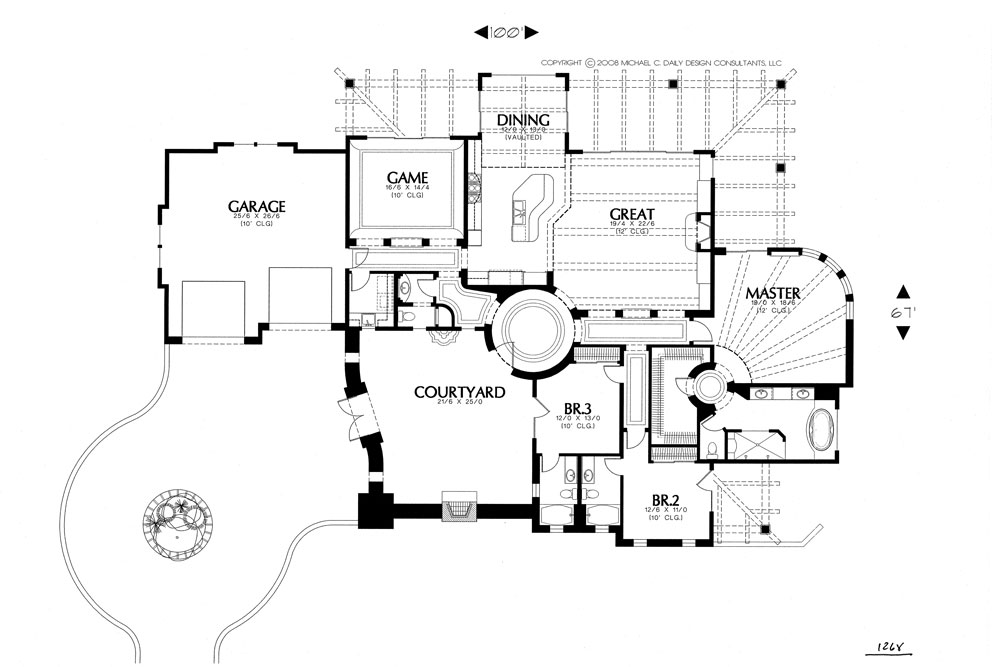 floor plan image of Featured House Plan: BHG - 1244