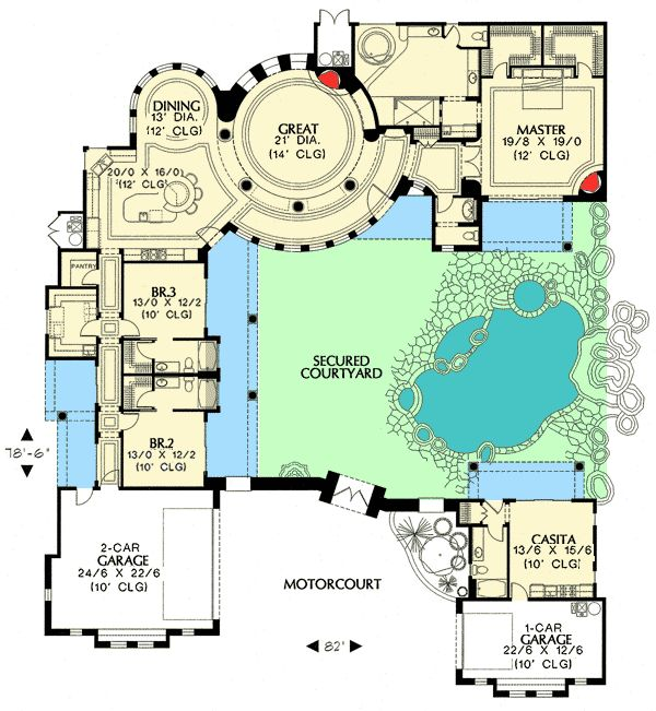 floor plan image of Featured House Plan: BHG - 1250