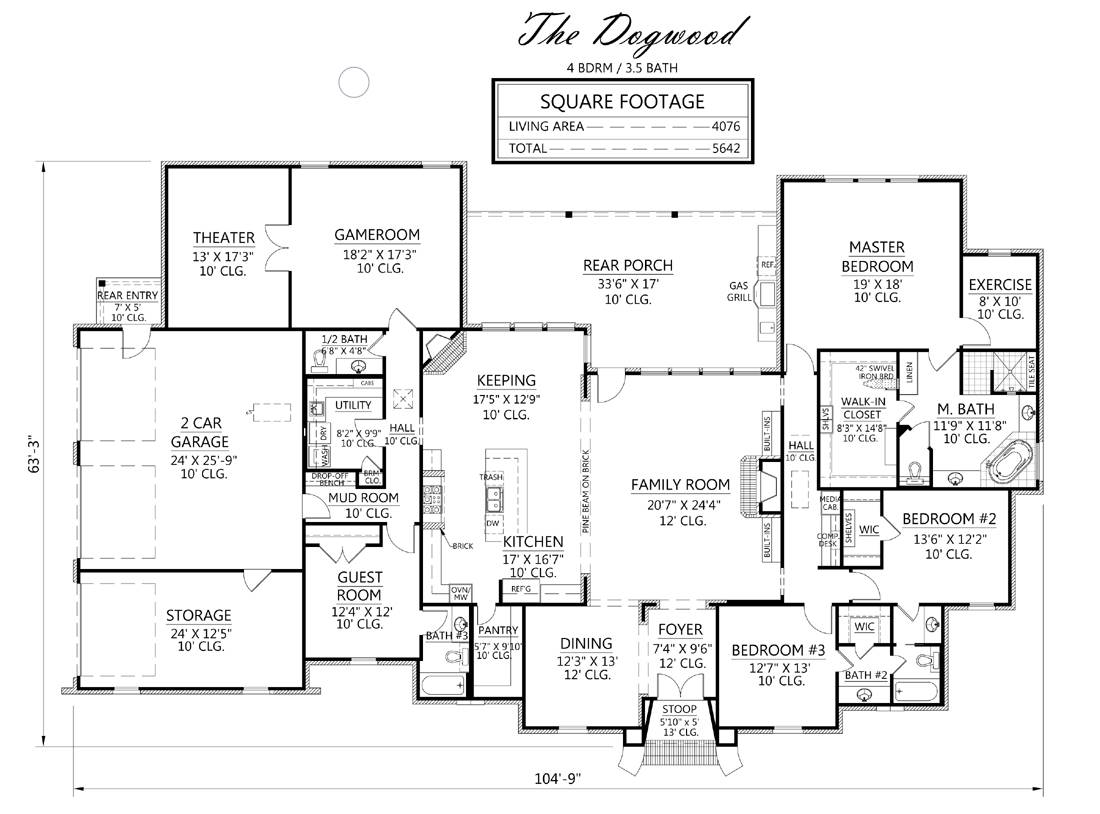 1st Floor image of Featured House Plan: BHG - 1979