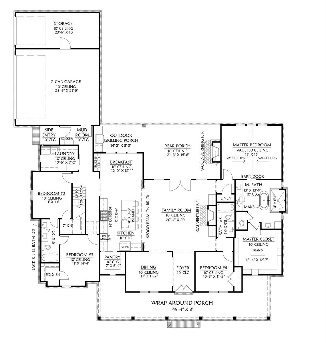 1st Floor image of Featured House Plan: BHG - 8676