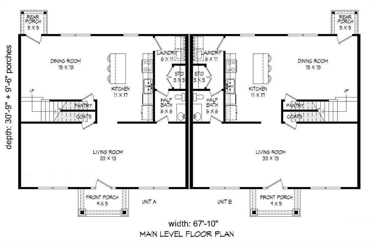1st Floor Plan image of Featured House Plan: BHG - 2007