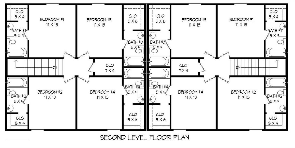 2nd Floor Plan image of Featured House Plan: BHG - 2007