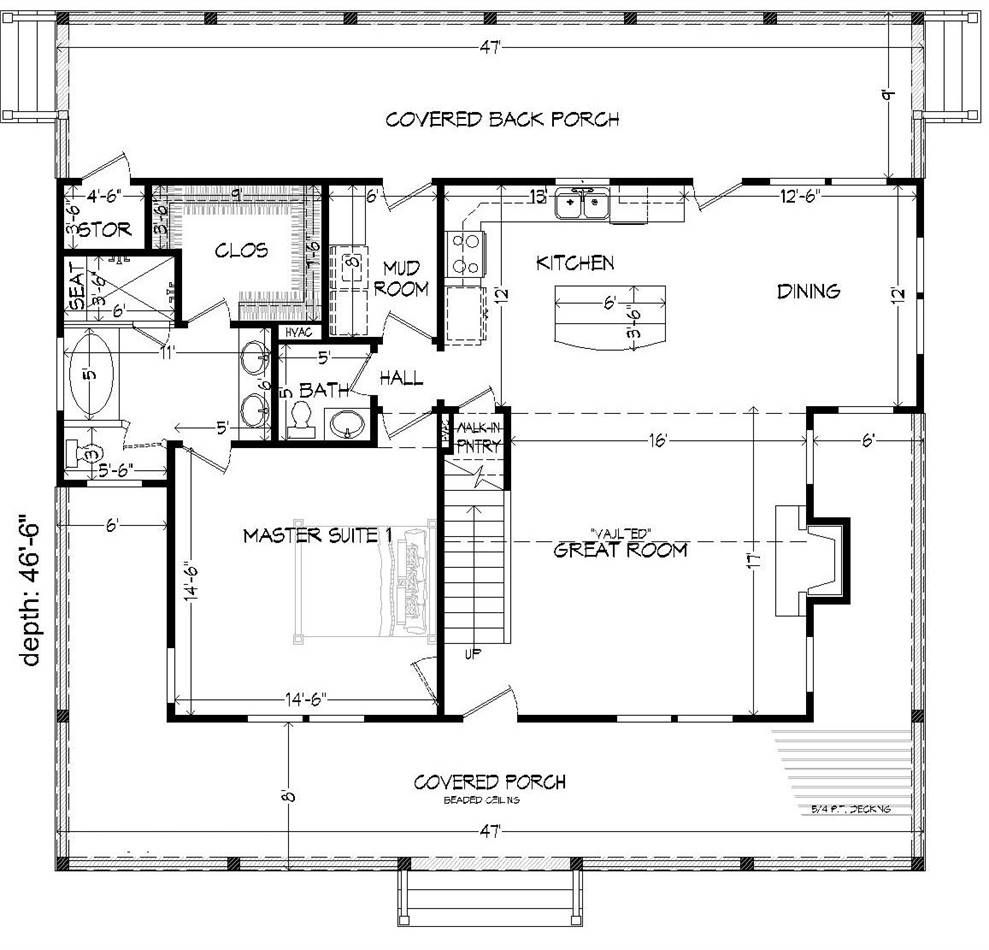 1st Floor Plan image of Featured House Plan: BHG - 2008