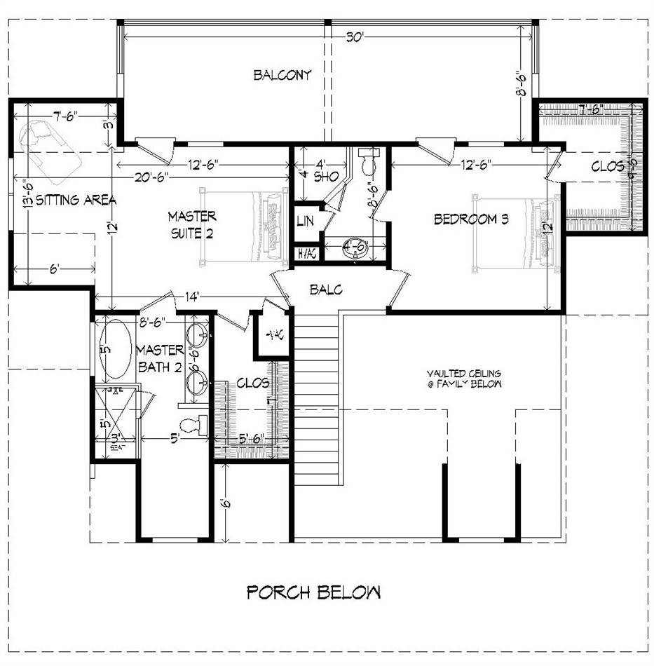 2nd Floor Plan image of Featured House Plan: BHG - 2008