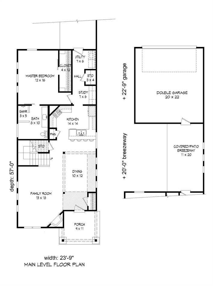 1st Floor Plan image of Featured House Plan: BHG - 2010