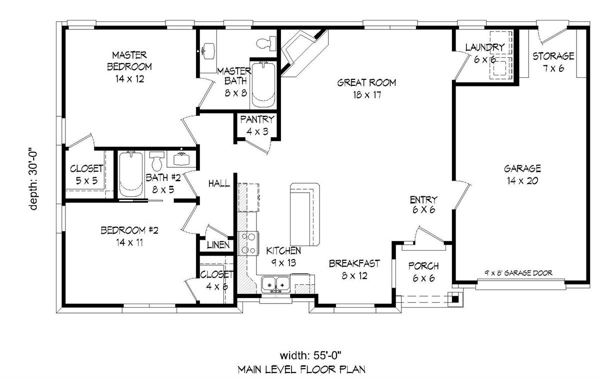 1st Floor Plan image of Featured House Plan: BHG - 2012