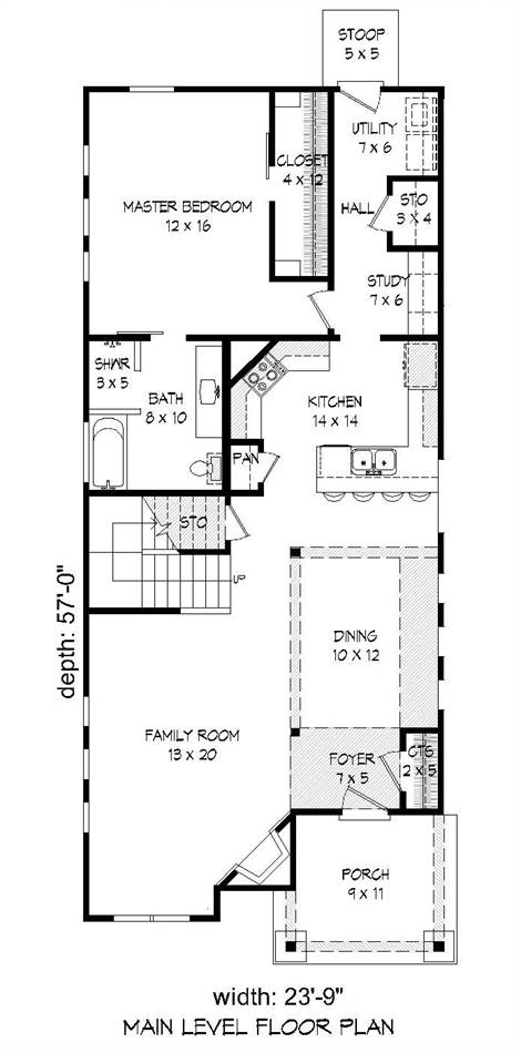 1st Floor Plan image of Featured House Plan: BHG - 2021