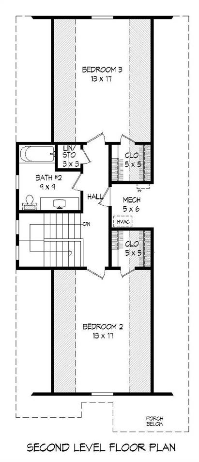 2nd Floor Plan image of Featured House Plan: BHG - 2021