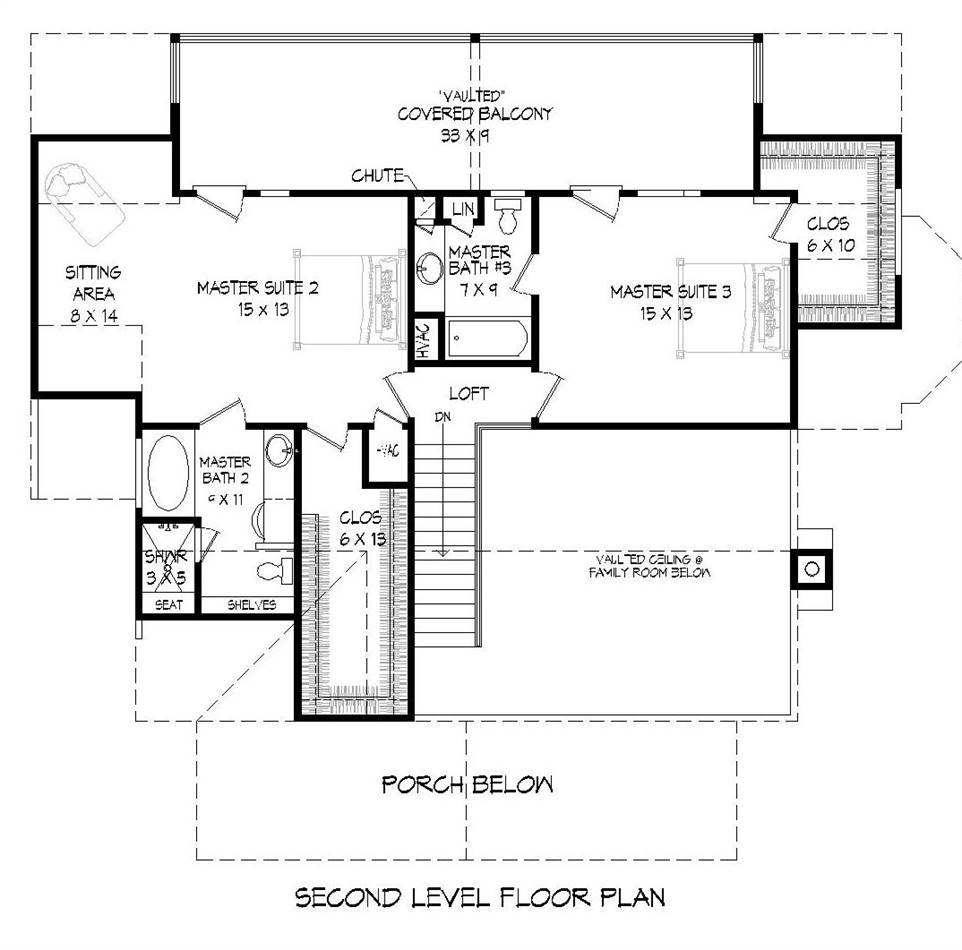 2nd Floor Plan image of Featured House Plan: BHG - 2018