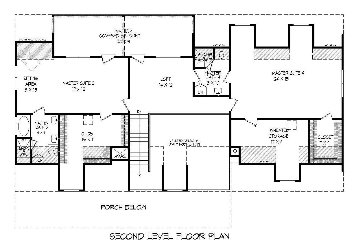 2nd Floor Plan image of Featured House Plan: BHG - 7501