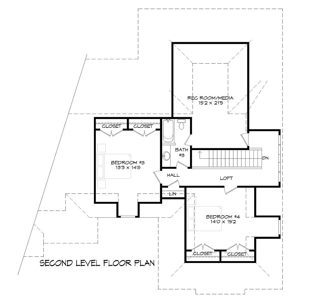 2nd Floor Plan image of Featured House Plan: BHG - 9387