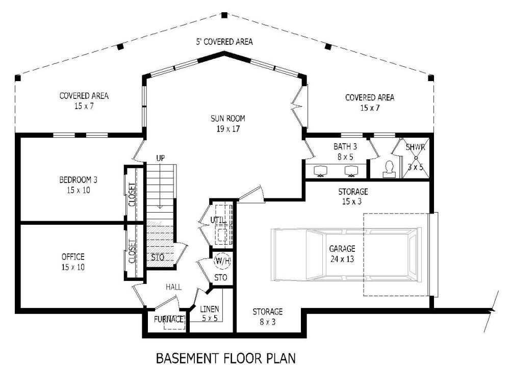Basement image of Featured House Plan: BHG - 1932