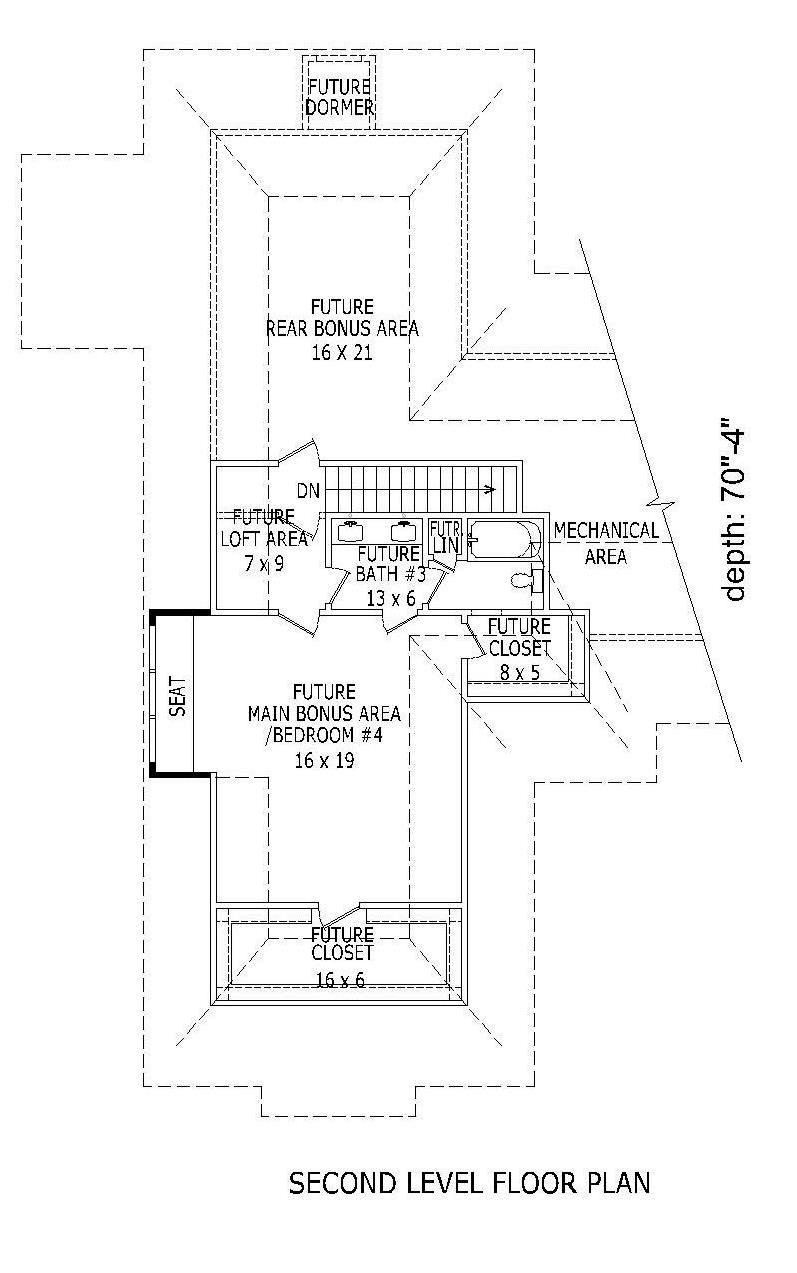 2nd Floor Plan image of Featured House Plan: BHG - 1980