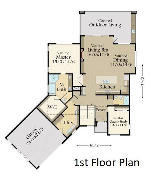 1st Floor Plan image of Featured House Plan: BHG - 7257