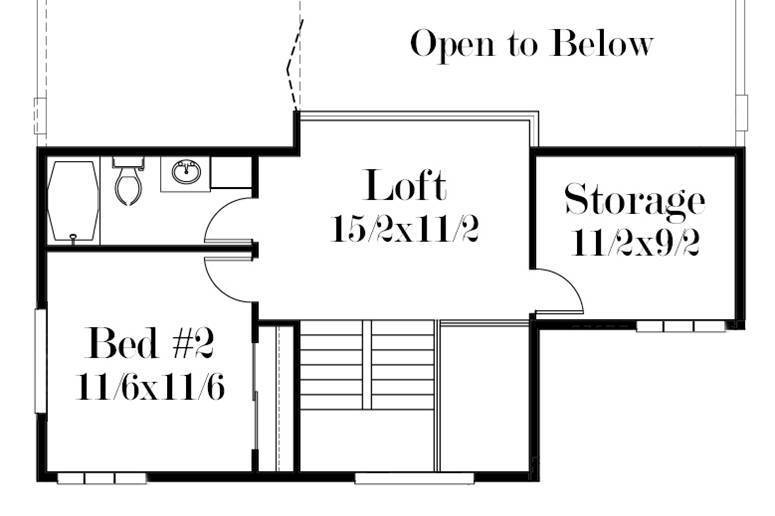 2nd Floor Plan image of Featured House Plan: BHG - 7505