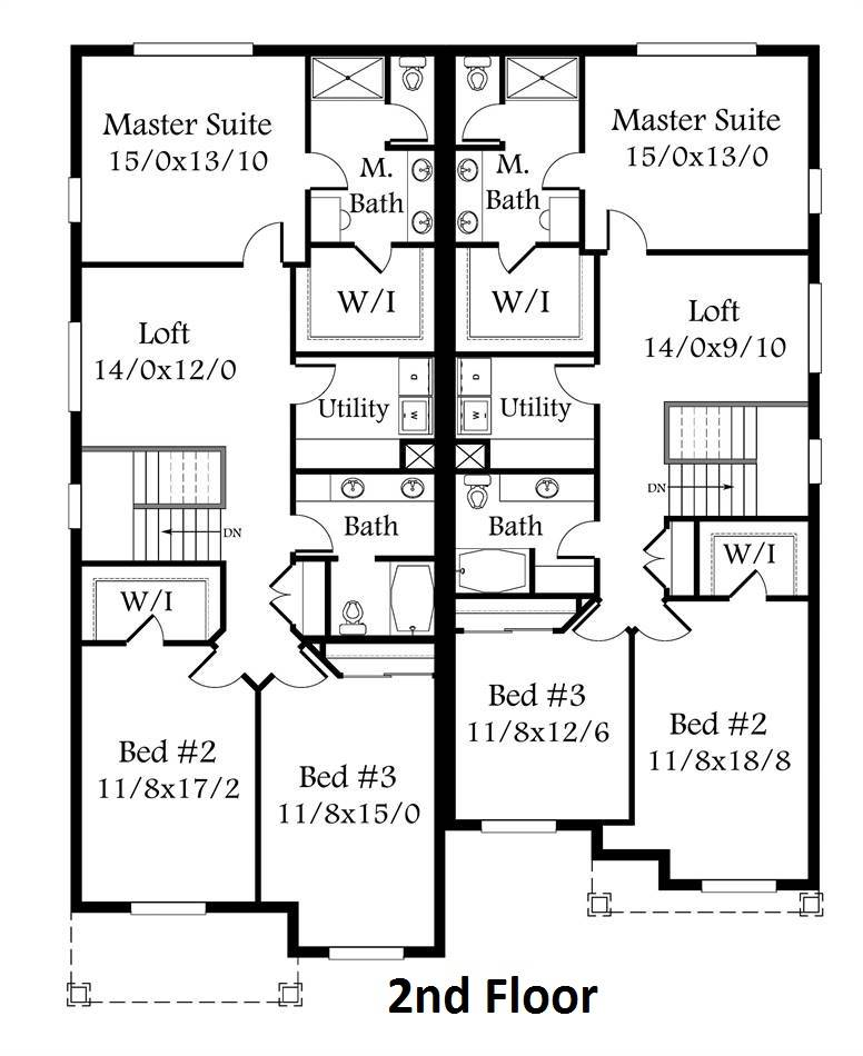 2nd Floor Plan image of Featured House Plan: BHG - 4387
