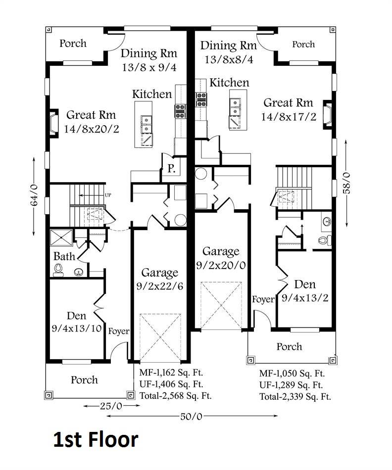 1st Floor Plan image of Featured House Plan: BHG - 4387