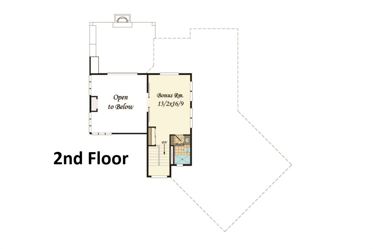 2nd Floor Plan image of Featured House Plan: BHG - 3812