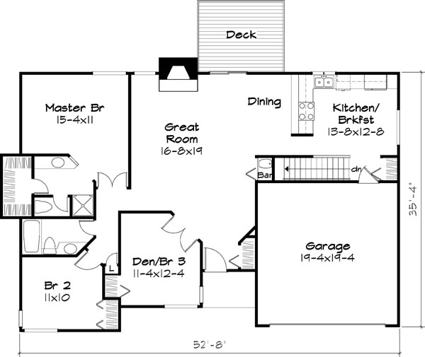 Main Floor Plan image of Featured House Plan: BHG - 6111