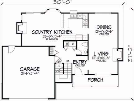 Main Floor Plan image of Featured House Plan: BHG - 6104
