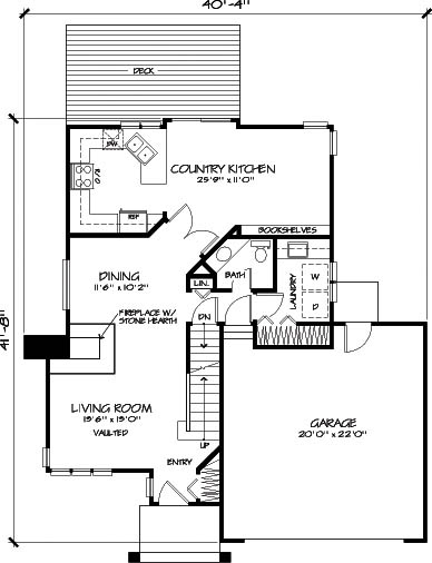 Main Floor Plan image of Featured House Plan: BHG - 6113