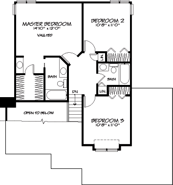Upper Floor Plan image of Featured House Plan: BHG - 6113