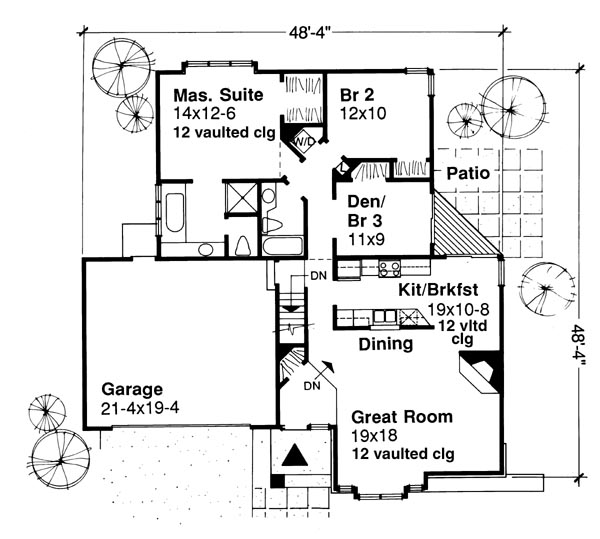 Main Floor Plan image of Featured House Plan: BHG - 6116