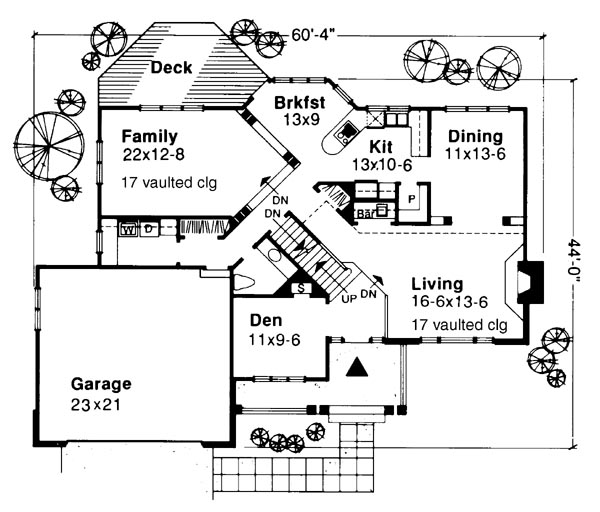 Main Floor Plan image of Featured House Plan: BHG - 6212