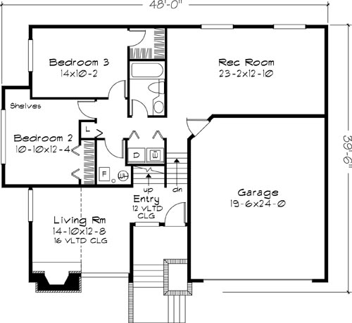 Main Floor Plan image of Featured House Plan: BHG - 6119