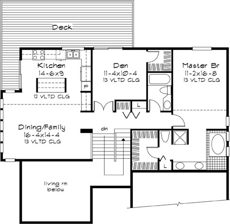 Upper Floor Plan image of Featured House Plan: BHG - 6119