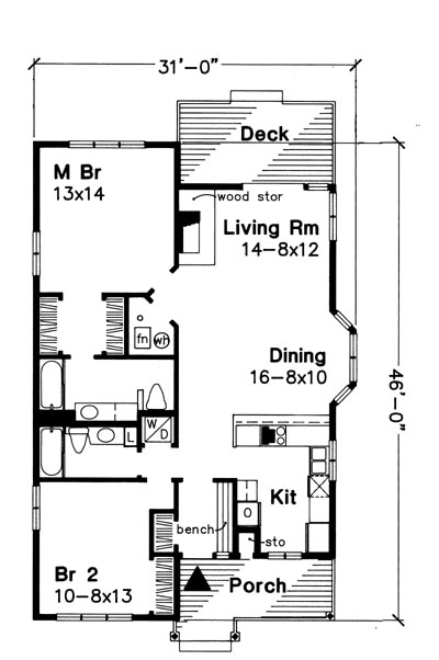 Main Floor Plan image of Featured House Plan: BHG - 6215