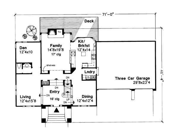 Main Floor Plan image of Featured House Plan: BHG - 6184