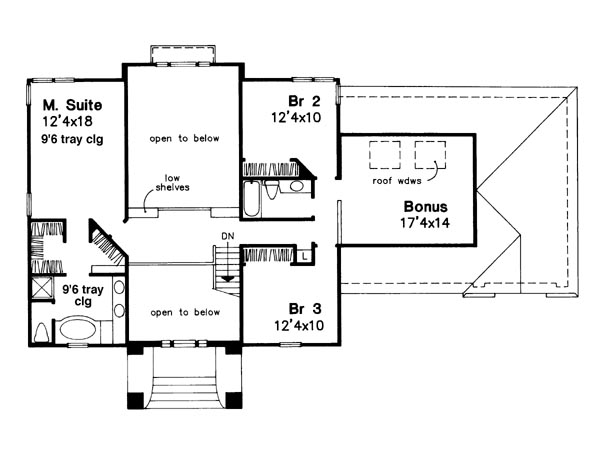 Upper Floor Plan image of Featured House Plan: BHG - 6184